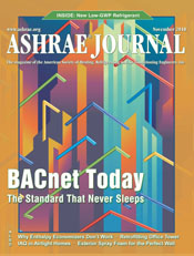 November 2010 ASHRAE Journal Cover